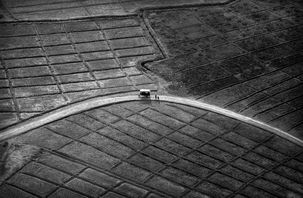 17. Афганцы рядом с автомобилем у крестьянских полей недалеко от Маржаха. (AP / Kevin Frayer)