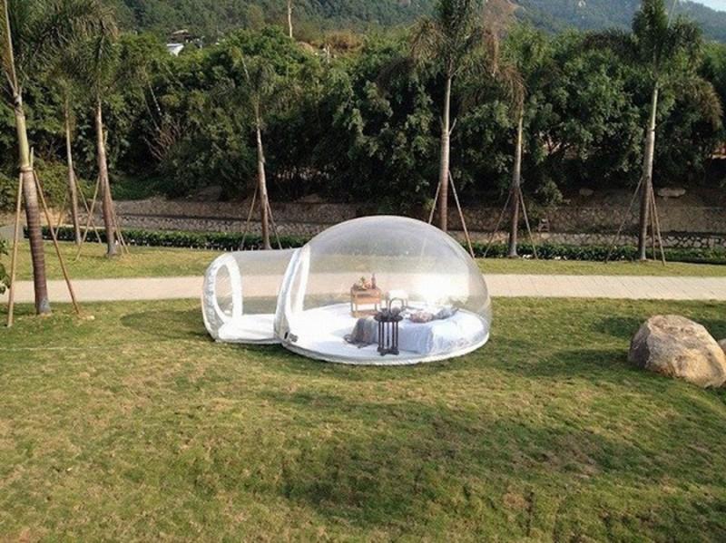 Гламурный кемпинг: прозрачная палатка для максимального сближения с природой (7 фото)