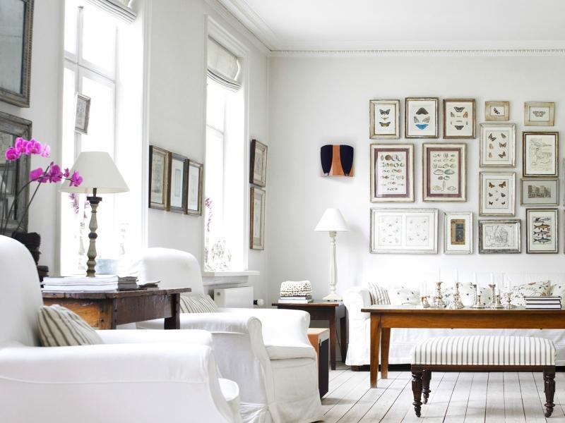 Белый цвет в интерьере гостиной, фото 8