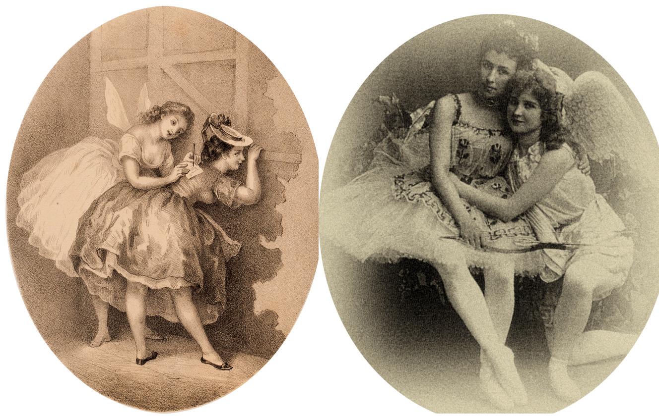Милый Serge, ты разорился... я улетаю...верная твоя Пашета. На фото Вера Трефилова–Соловьева и Кшесинская Матильда (Балет «Пробуждение Флоры» 1894)