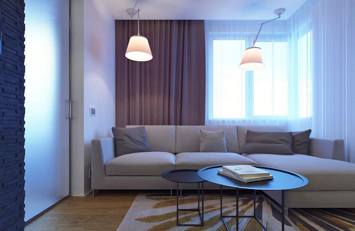 Eugene Meshcheruk, оформление однушки, дизайн перепланировка однокомнатной квартиры, современный дизайн однокомнатной квартиры 40 кв м