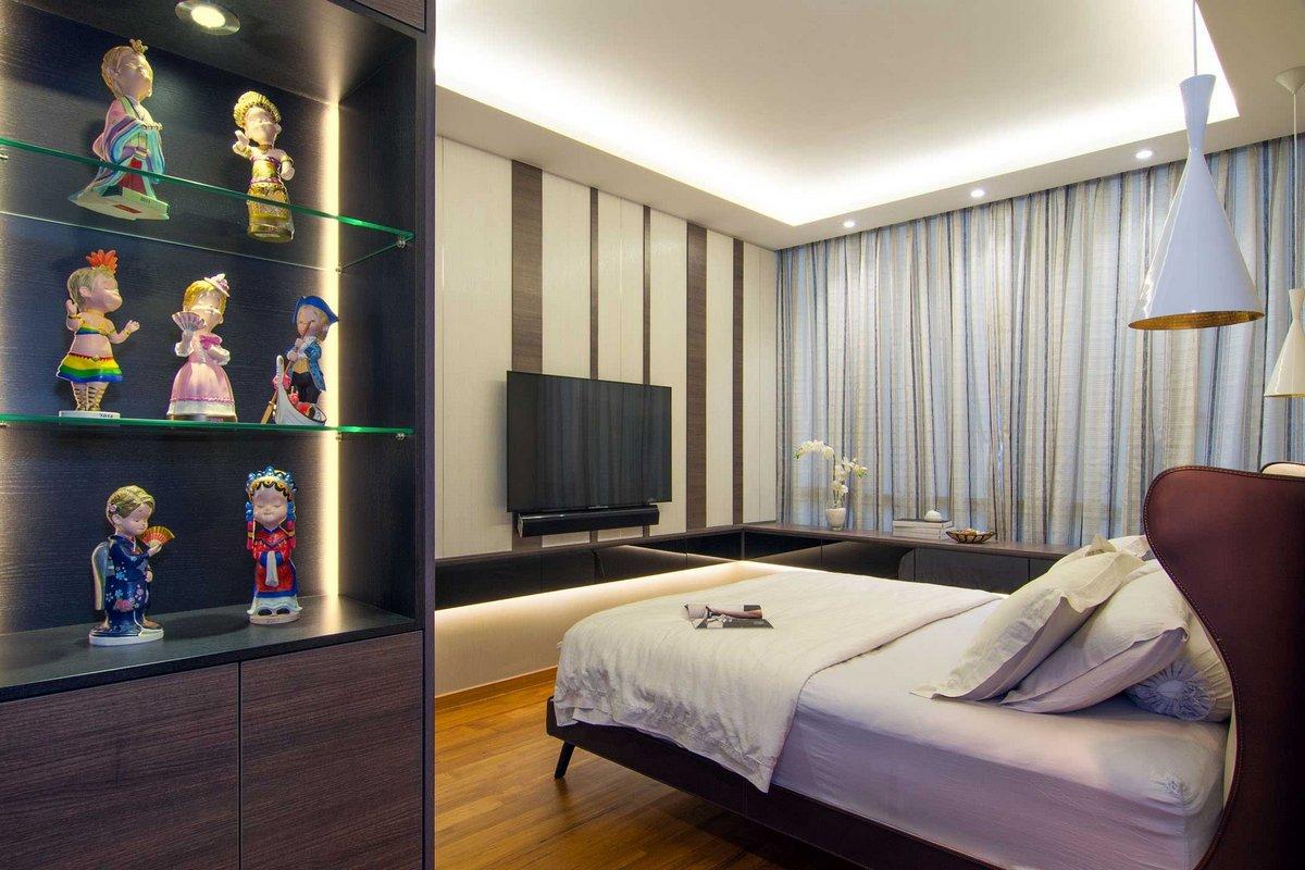 KNQ Associates, функциональный дизайн интерьера, современный дизайн интерьера квартир, оформление спальной, идеи оформления гостиной
