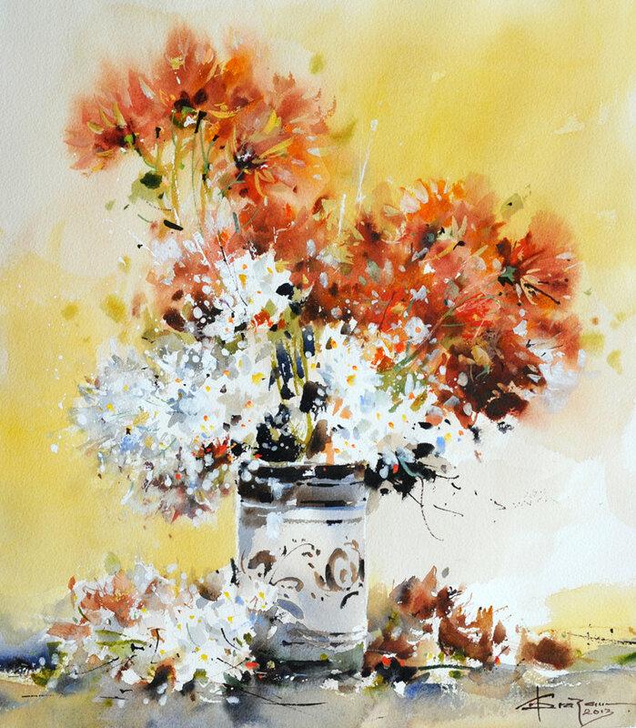 Рисунок цветы в бутонах