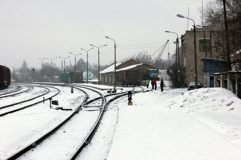 Станция Невель-2, вид на Беларусь