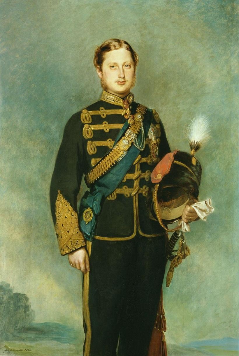 Эдуард VII (1841-1910), когда Принц Уэльский  подписана и датирована тысяча восемьсот шестьдесят четыре