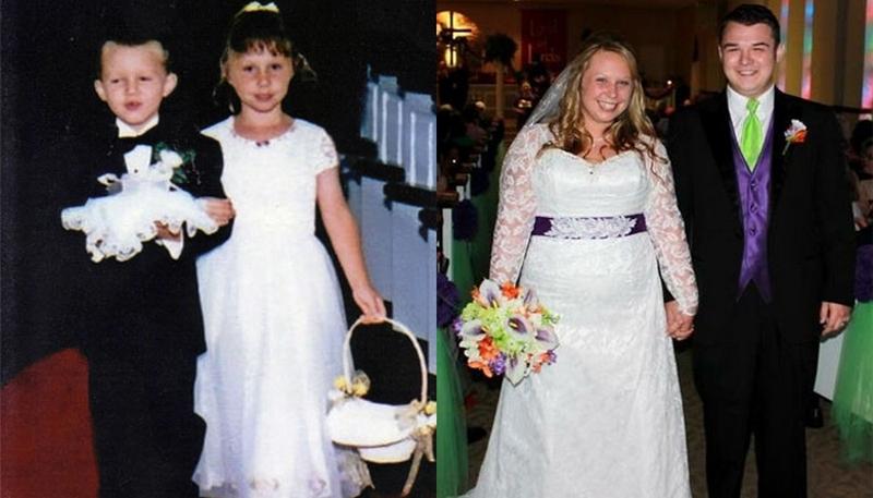 Они встретились на свадьбе в детстве и спустя 14 лет поженились в той же церкви