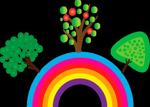 дерево на радуге