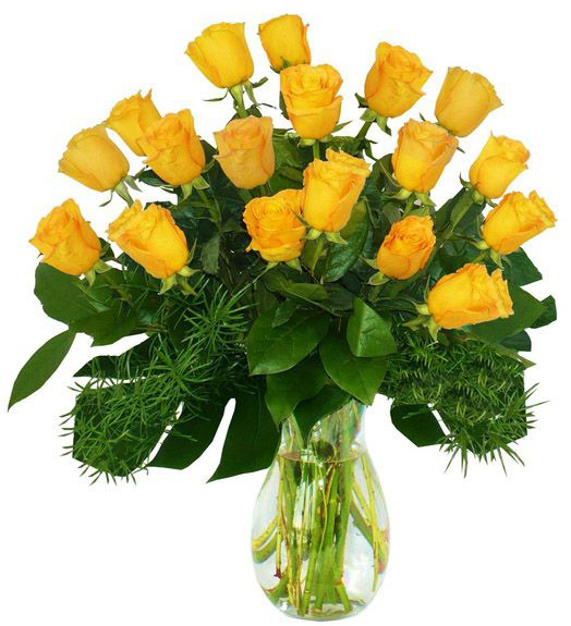 букет жовтих троянд