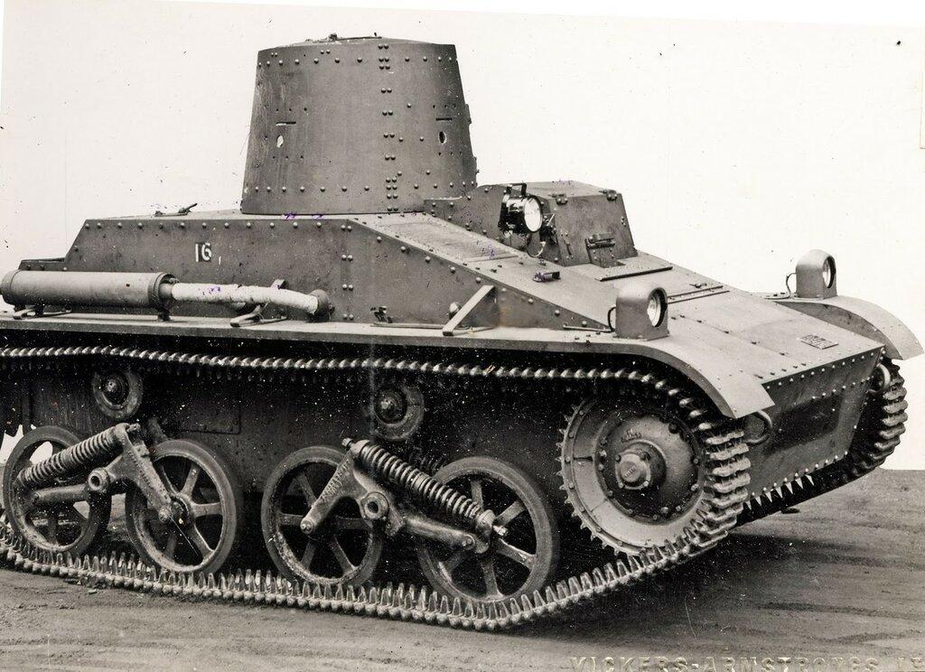 Vickers Light Tank Conical Turret 1935 Belgium (Т15)