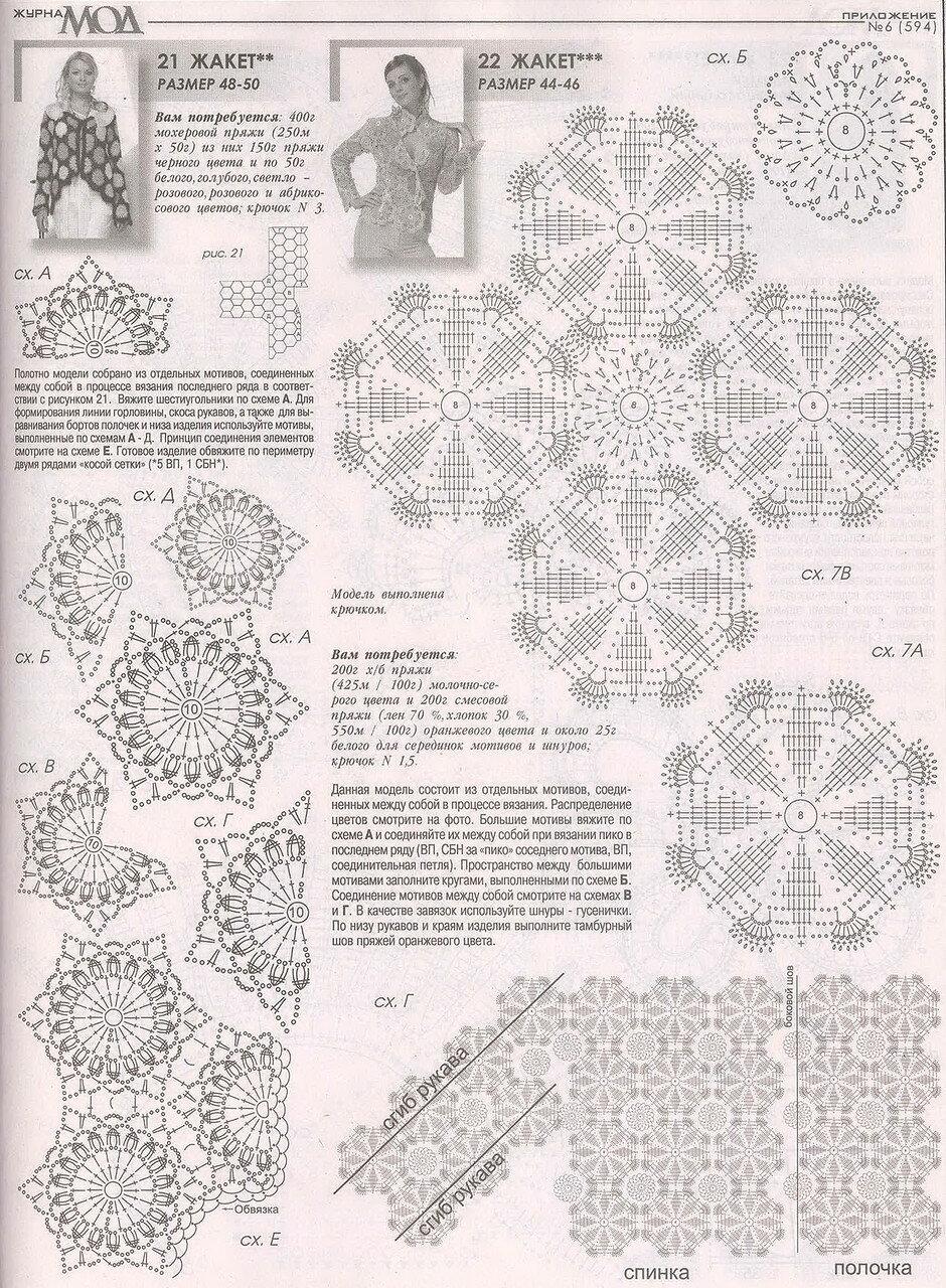 Журнал мод 594 вязание стильные модели 73
