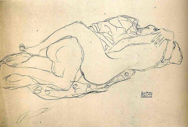 34 эротических эскиза Густава Климта