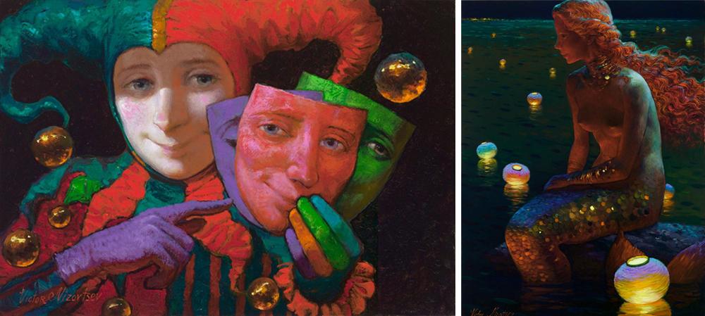Художник Виктор Низовцев пишет свои работы втехнике масляной живописи. Создает теплые, красивые ска