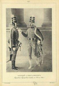 627. РЯДОВОЙ и ОБЕР-ОФИЦЕР Сумского Гусарского полка, с 1776 по 1783 год.