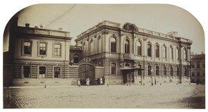 Особняк П.С. Строганова на Сергиевской улице. Вид особняка и флигеля при нем