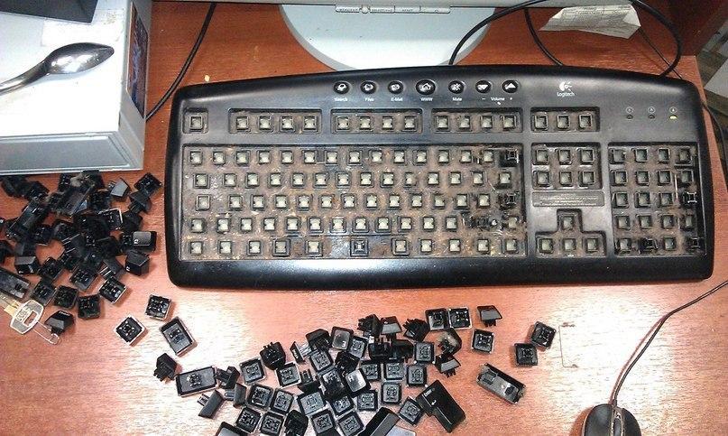 если не почистить клавиатуру