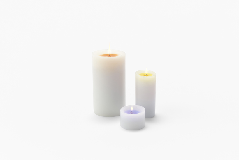 New Sunset Candles Burn to Reveal a Hidden Rainbow of Color