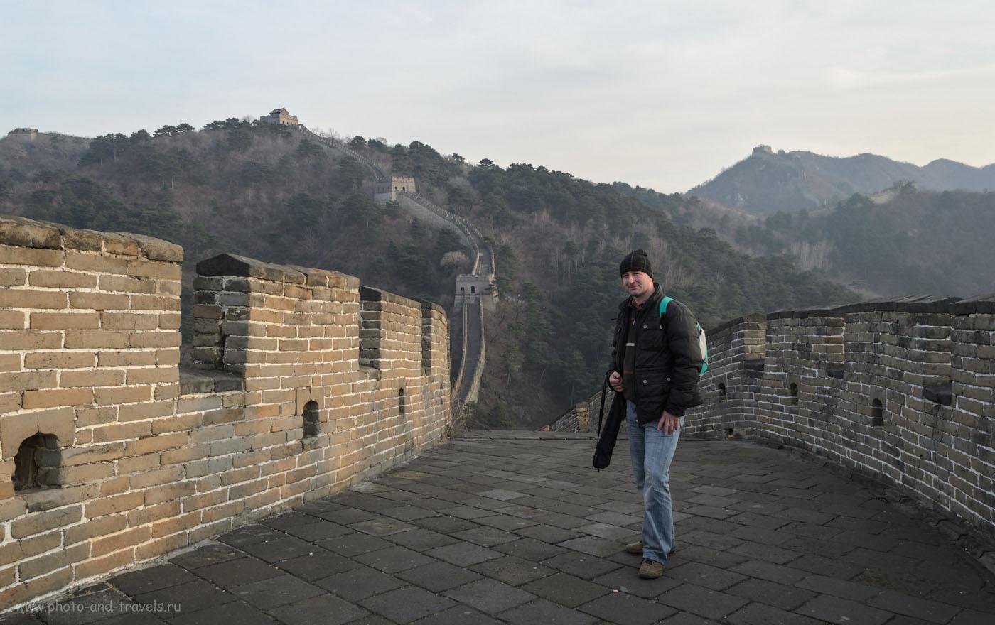 Фотография 5. На участке Мутяньюй (Mutianyu Great Wall) бродят только российские туристы. Отзыв об экскурсии на Китайскую стену из Пекина. Самостоятельная поездка в Китай в ноябре 2011 года.