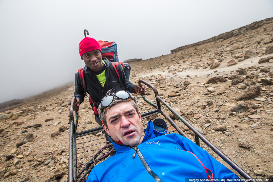 Как Сергей Доля спускался с Килиманджаро