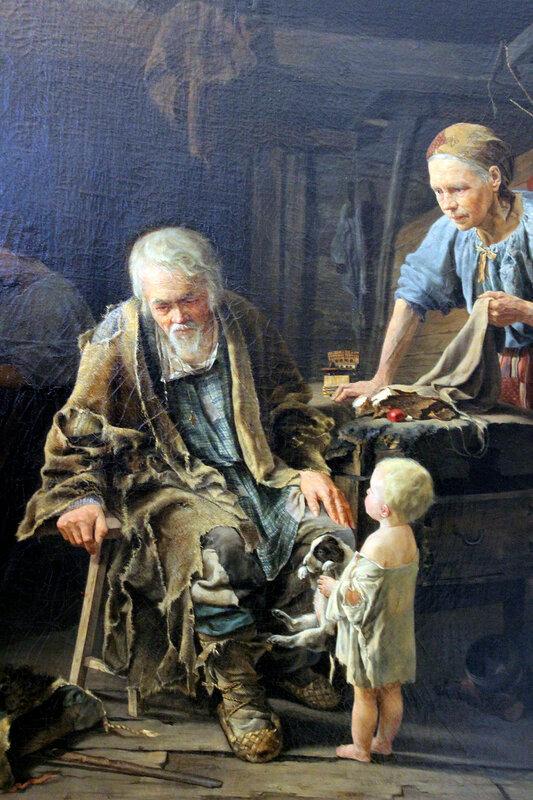 В.И. Якоби. 1860 г. холст, масло.Светлый праздник нищего.