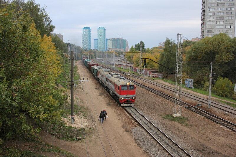 2М62У-0042 на перегоне Тушино - Подмосковная