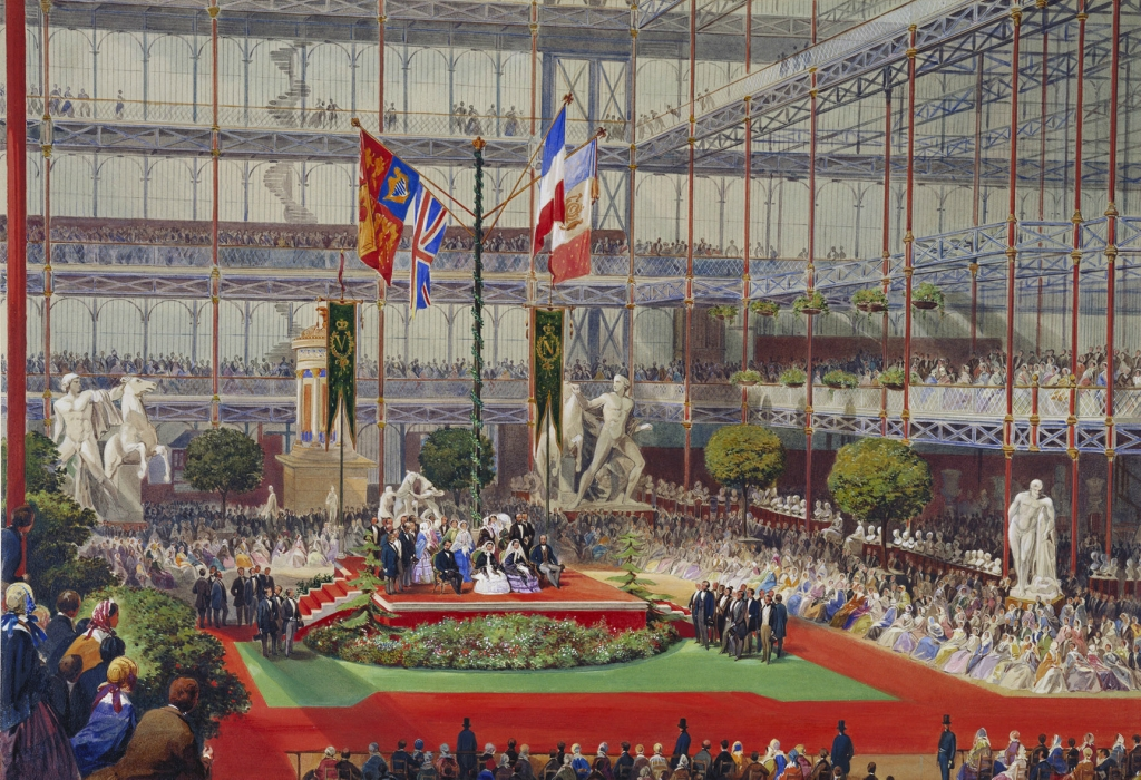 The imperial and royal visit to the Crystal Palace at Sydenham, 20 April 1855