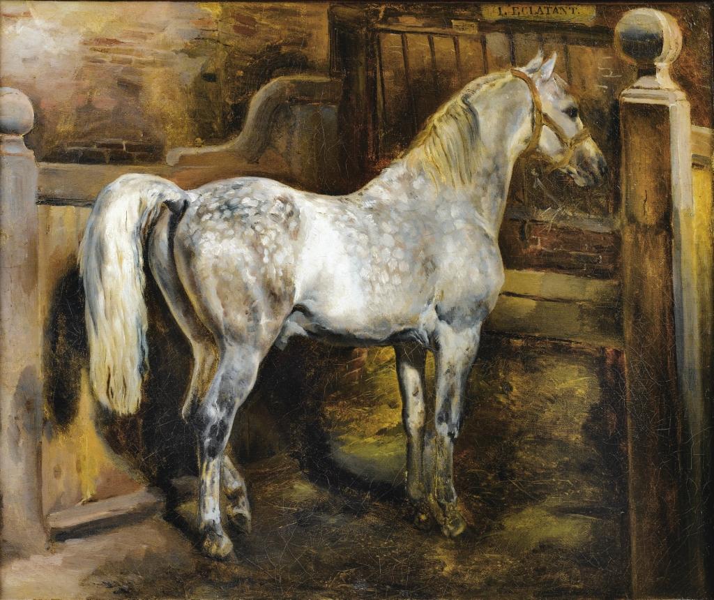 Eugène-Louis LamiPARIS 1800 - 1890L'ECLATANT, ÉTALON DU HARAS ROYAL DU PIN