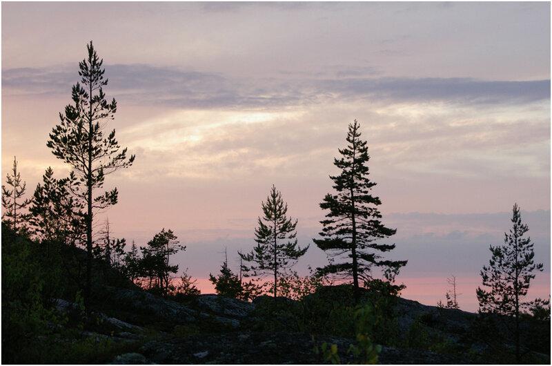 Северный закат. Архипелаг Кузова, Карелия