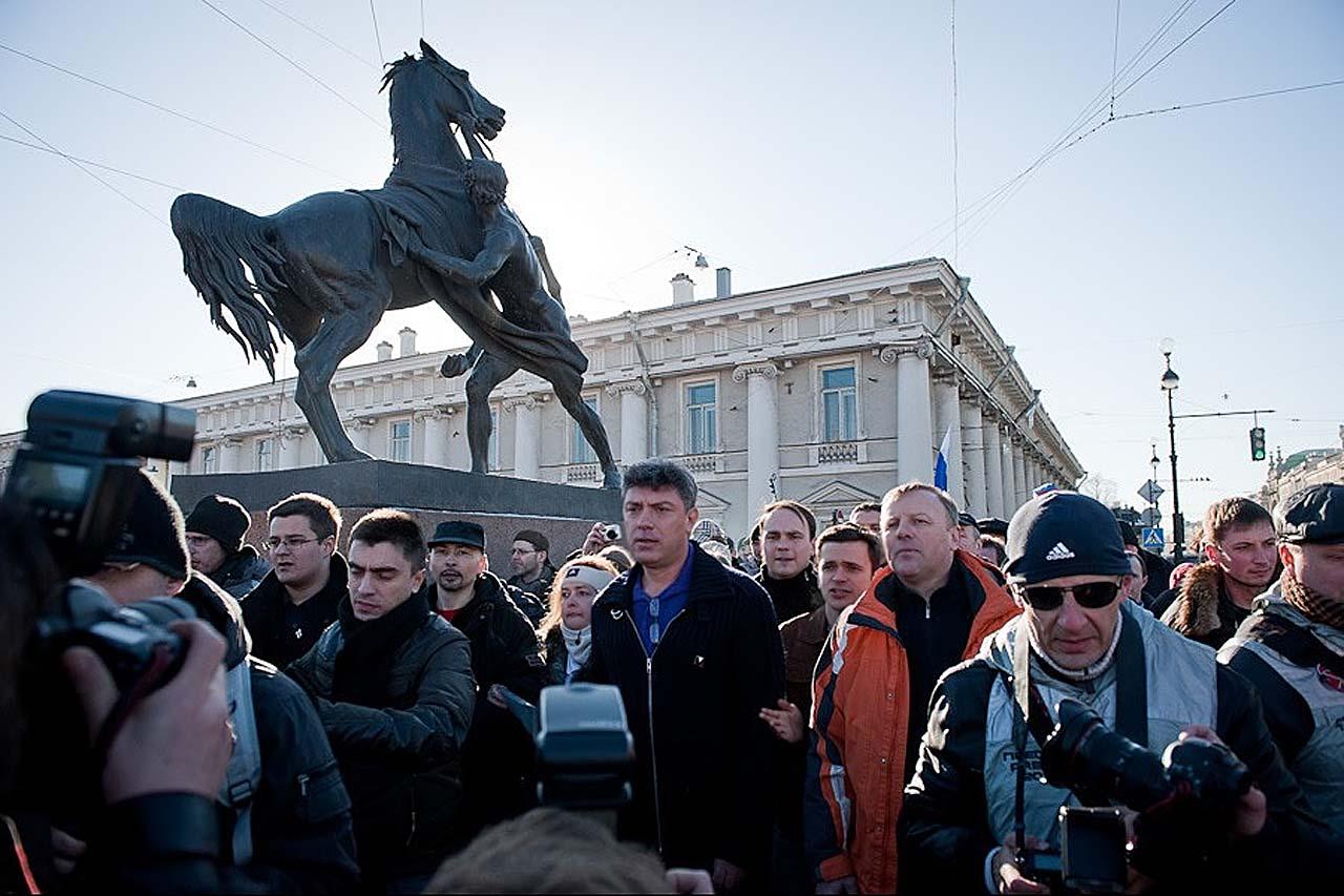 Марш несогласных 31 марта 2011 года, Петербург