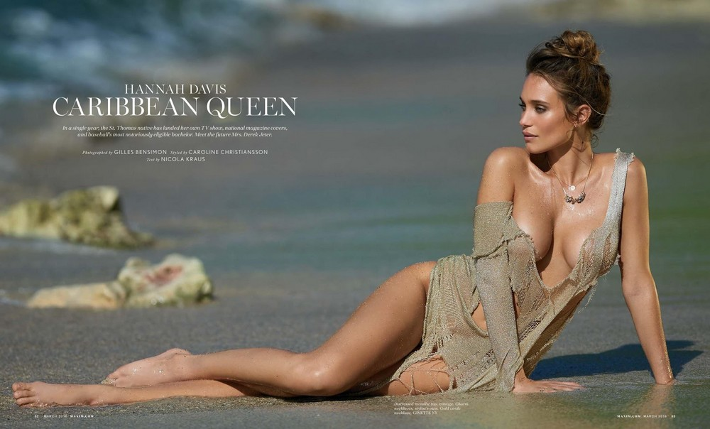 Ханна Дэвис в журнале Maxim