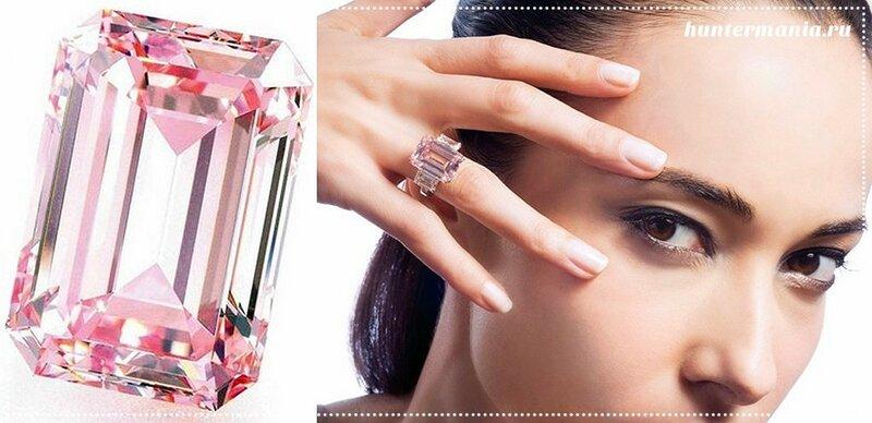 Самые дорогие бриллианты в мире - Идеальный розовый