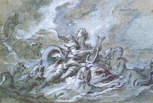 """Набросок """"Вода"""" (1748)"""