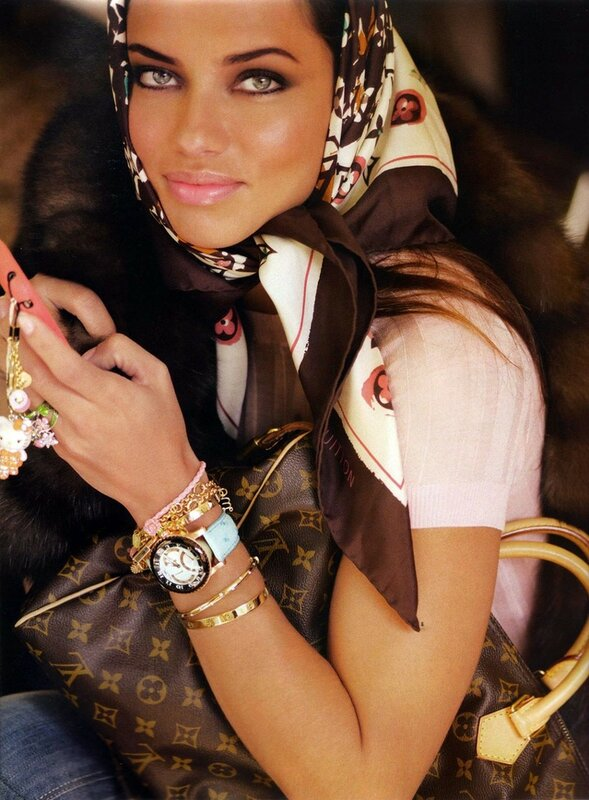 Adriana Lima   Vogue   Paris November 2008