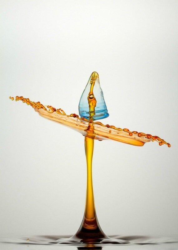 Капающая вода. Высоко скоростные макро фотографии