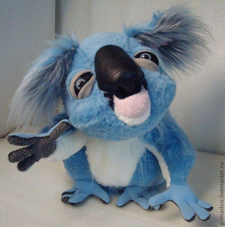 Голубое животное