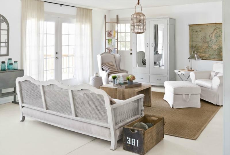 Белый цвет в интерьере гостиной, фото 7