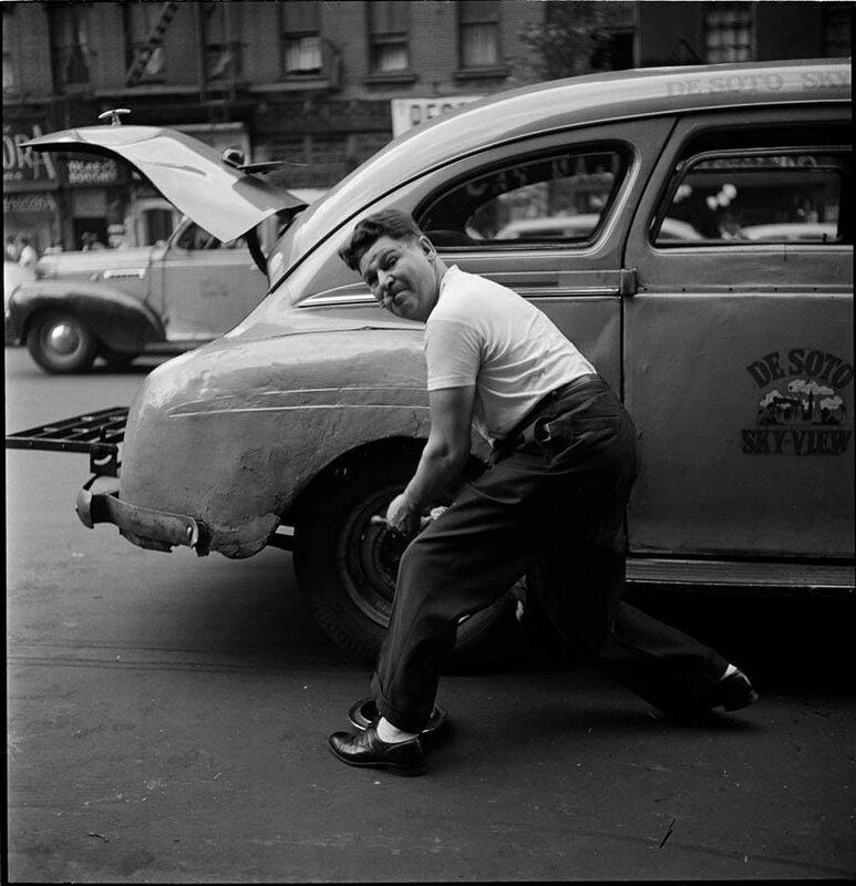 Замена шины, 1946 год
