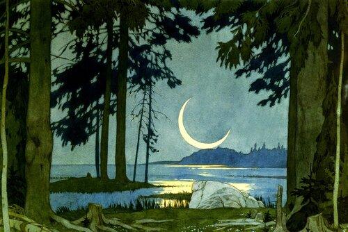 Садко. Ночь на берегу Ильмень озера.