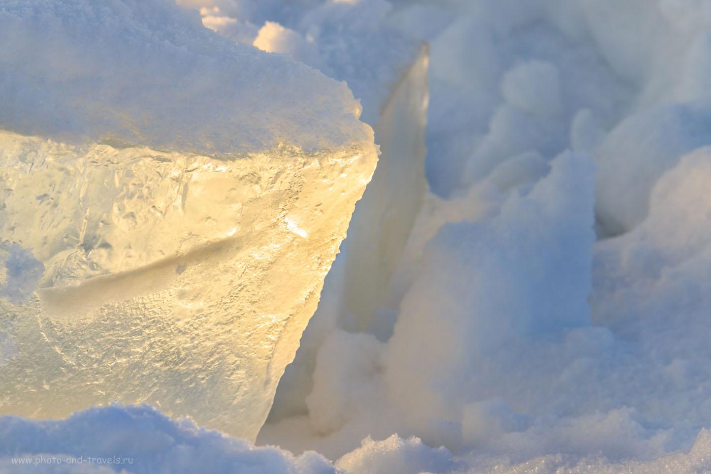 Фотография 22. Лед на реке. Как я тестировал Canon Kit. 1/200, +0.67, 9.0, 100, 75.