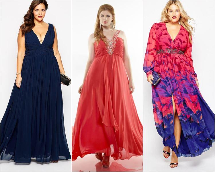 Шифоновые длинные платья для полных женщин