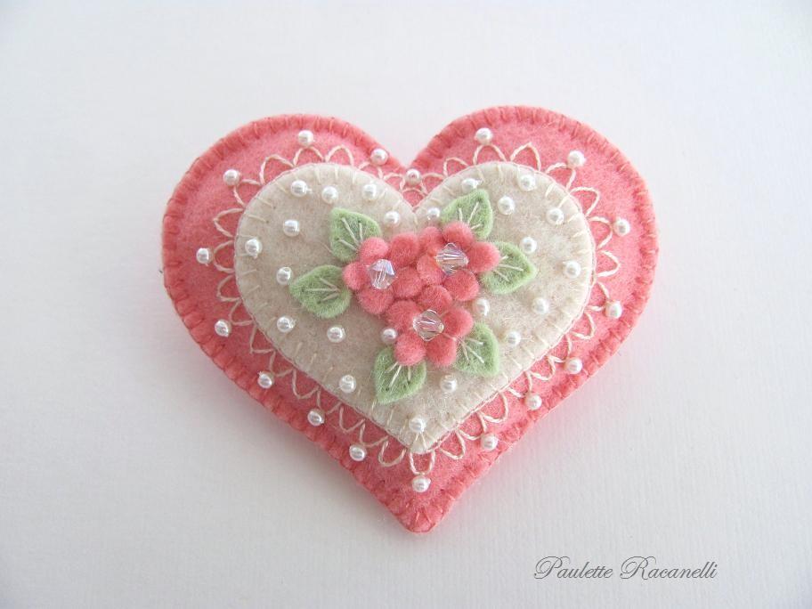 اویز نمدی اشپزخانه валентинка с бусинками