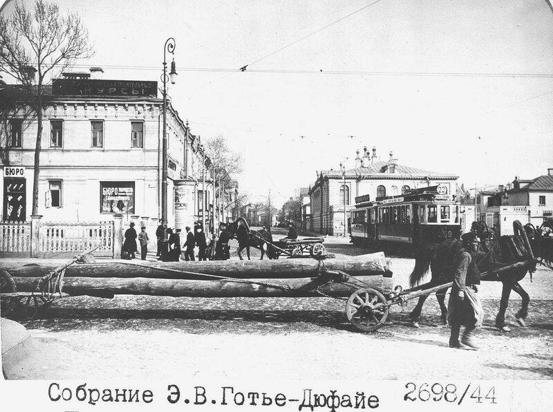4347 Кудринская площадь. Вид на Большую Никитскую Э.В. Готье-Дюфайе 1913.jpg