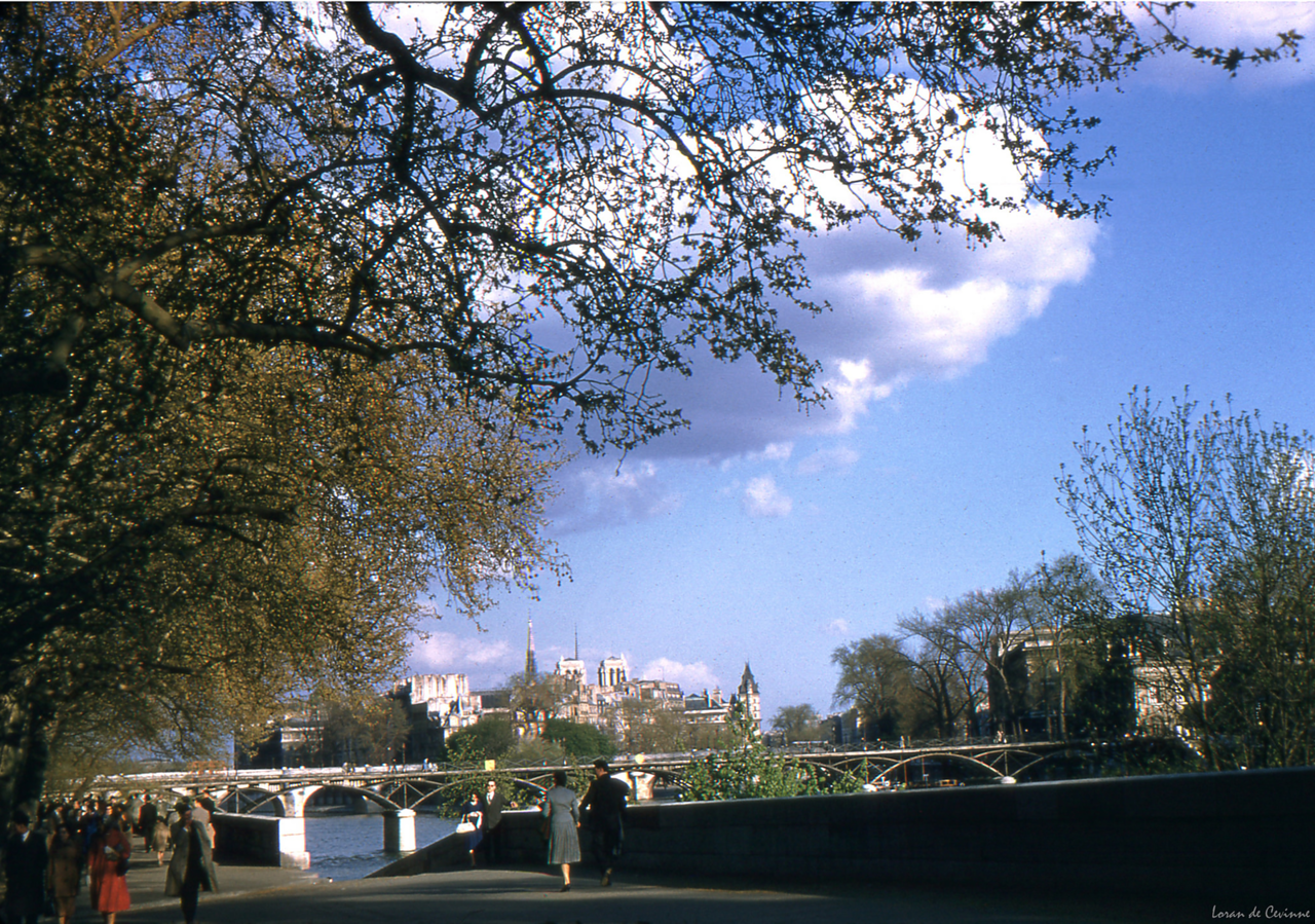 1960. Набережная Лувра