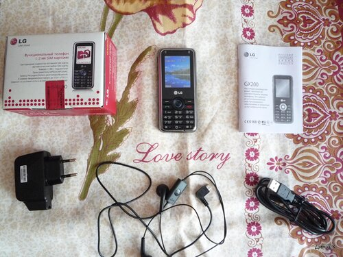 Комплектация телефона LG GX-200