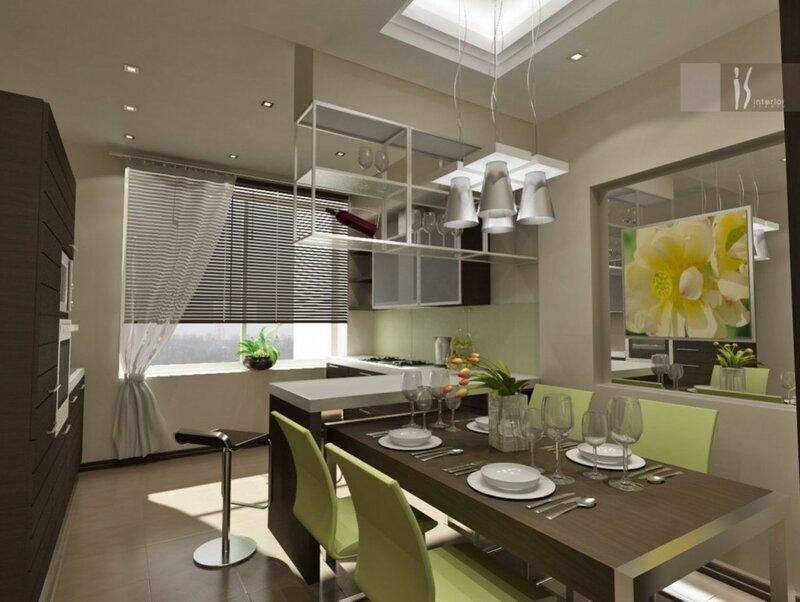 дизайн интерьера кухни фото.