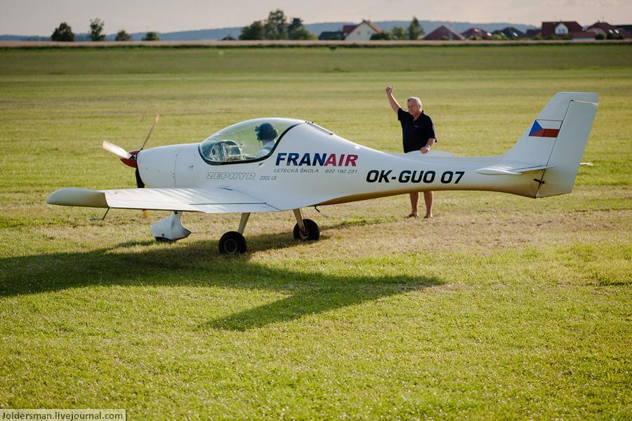 Научиться управлять самолетом на отдыхе в Чехии