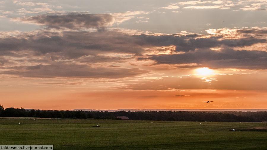 полеты над чехией на закате