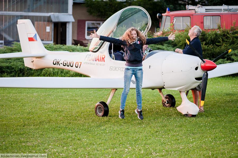 Что делать в Чехии? Конечно летать на самолете!