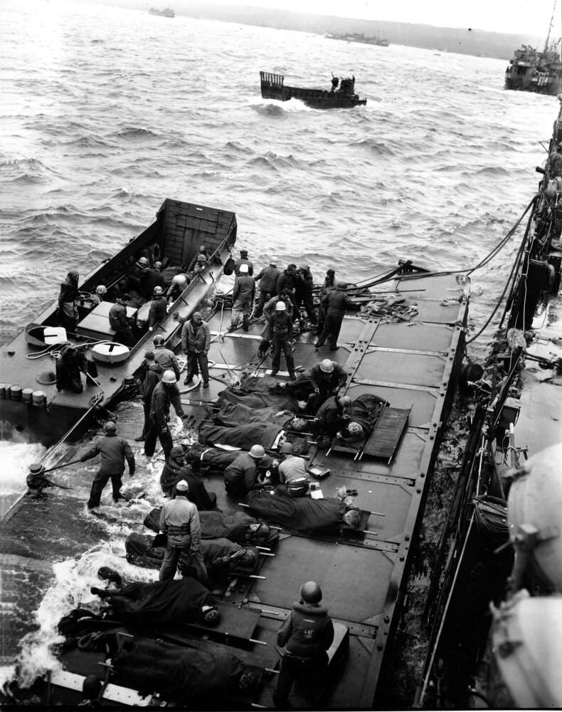 WWII U.S. WOUNDED IWO JIMA
