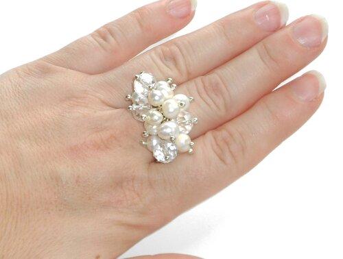 Кольцо с жемчужиной своими руками 96