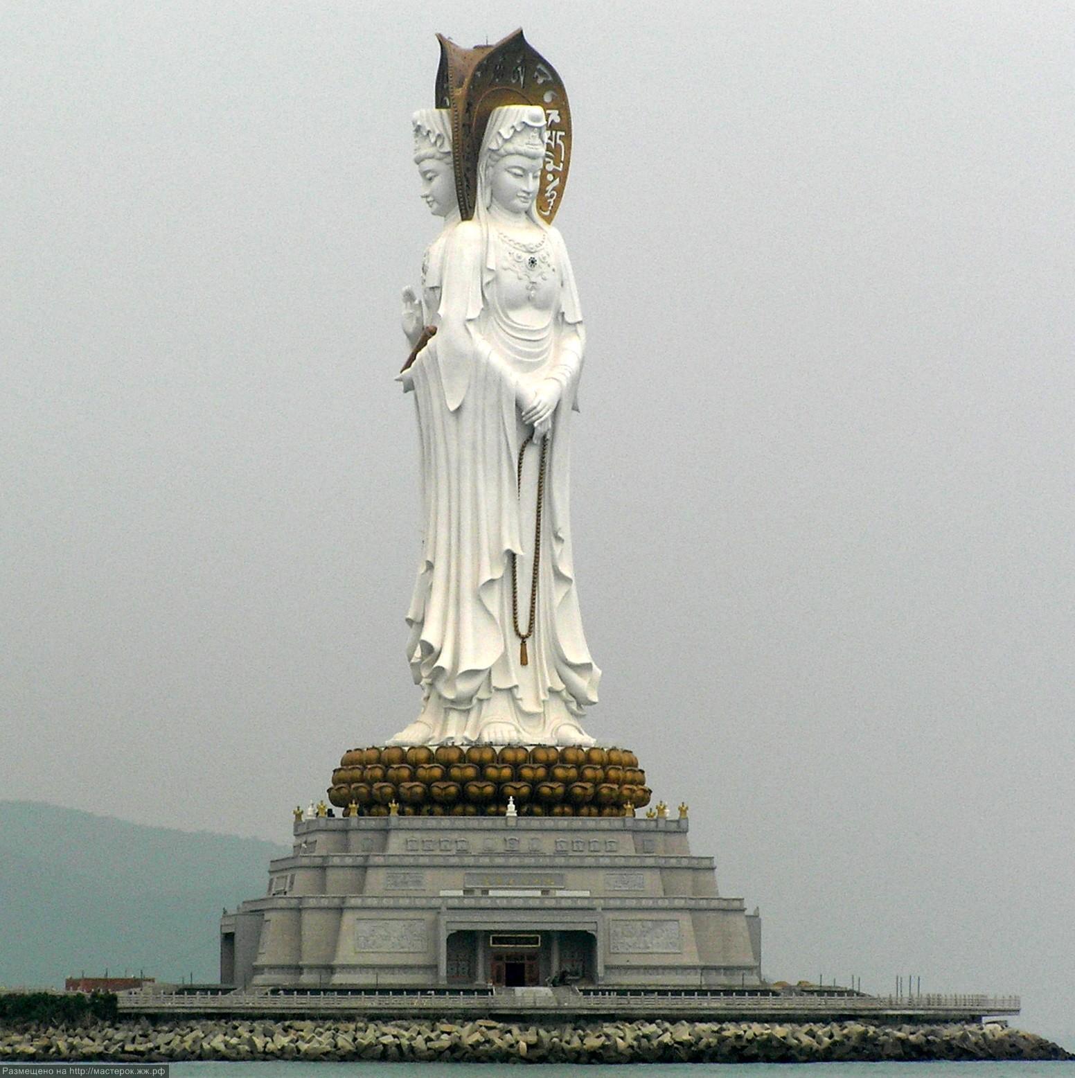 108-meter  three-aspect Bodhisattva Guanyin statue. Sanya Nanshan Buddhism Cultural Tourism Zone